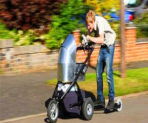 Модные коляски могут быть даже с мотором! Удивительное изобретение британца
